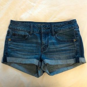 American Eagle denim cuffed jean shorts